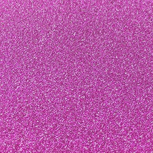 10 Blatt Klebefolie Glitzer Selbstklebende Dekofolie A4 Farbige Bastelfolie Glitter Vinyl Aufkleber für DIY Handwerk Scrapbooking Rosa