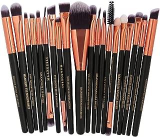 20 Pieces Makeup Brush Set, Staron Makeup Brushes Kit Foundation Face Eye Shadow Eyeliner Blush Lip Cosmetic Powder Cosmetics Blending Makeup Brush Tool (A)