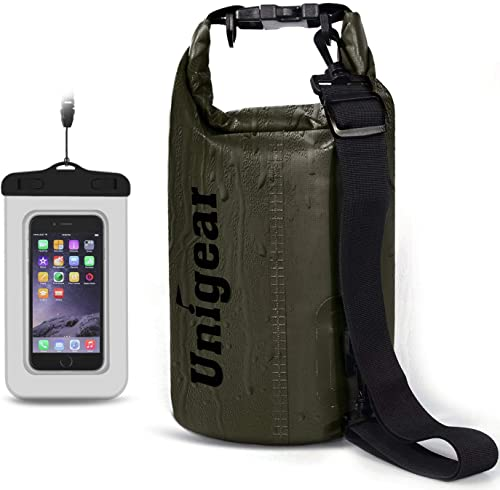Unigear Dry Bag Waterproof, Floating and Lightweight Bags for Kayaking, Boating, Fishing, Swimming and Camping with W...