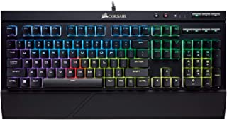 Corsair K68 RGB Mechanical Gaming Keyboard-Cherry MX Red- Dust and Spill Resistant- Black