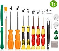 Younik Juego de destornilladores para Nintendo desarmador completo y professional triwing 17 en 1, juego de herramientas de reparación para Nintendo Switch, 3DS, Wii, NES