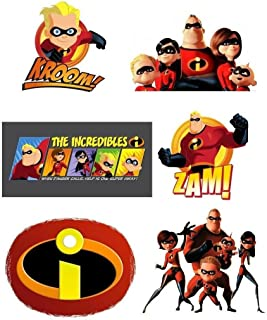 The Incredibles 6 pack T Shirt Iron on Transfer 8x10
