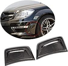 MCARCAR KIT Front Bumper Vent fits Mercedes Benz C Class W204 C63 AMG Sedan Facelift 2012-2014 Customized Carbon Fiber Air Fender Cover Exterior Side Scoops Spoiler Protector Splitter