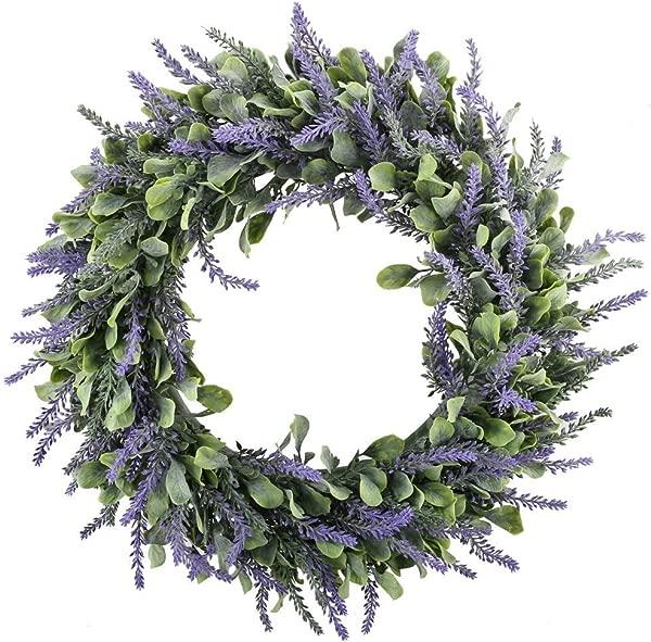 月花艺假花薰衣草花环鲜花布置大门墙荷马婚礼装饰