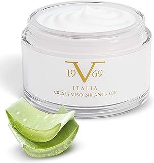 24H Anti-Age Face Cream - Luxury Day & Night by Versace 19.69 Abbigliamento Sportivo Srl - With Collagen, Hyaluronic Acid, Aloe Vera, Argan Oil, Vitamin E & Pomegranate