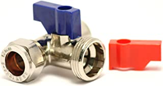 Plumb-Pak Washing Machine/Dishwasher Tap T Connector 15mm x 15 mm x 3/4 inch