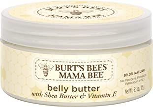 Burt's Bees Mama Bee Belly Butter, Fragrance Free Lotion, 6.5 Ounce Tub