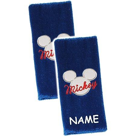 Alles Meine De Gmbh Gurtschoner Gurtpolster Disney Mickey Mouse Incl Name Gurtschutz Für Sicherheitsgurt Als Gurt Polster Für Auto Kindersitz Schoner Autosit Spielzeug