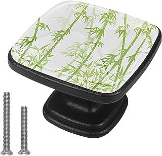 Vert bambou 4 PCS Tiroir de Porte Poignée, Bouton de Meubles, Boutons de Tiroir, Boutons de Porte, Poignées de Meuble pour...