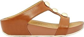 Shoexpress Embellished Slip-On Slide Sandals with Low Wedge Heels
