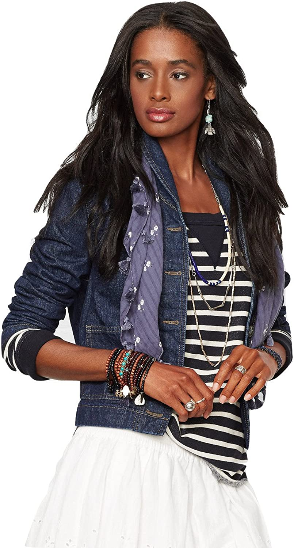Denim & Supply Ralph Lauren Women's ShawlCollar Denim Jacket bluee Size XSmall