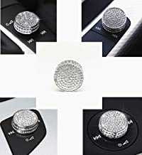 Bling Knob Cover for Audi A3 A4 A5 Q2 Q3 Q5 S RS Series Volume Audio Control knob Rhinestones Decorative Cover Decal Cover...