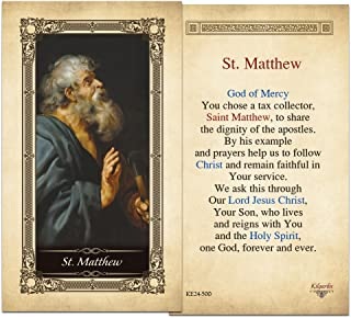 St. Matthew Laminated Holy Card - Pack of 3