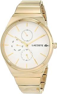 Lacoste 2001037 - Reloj analógico de cuarzo para mujer (38 mm, correa de acero en tono dorado)