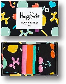 3-Pack Calcetines De Cumpleaños Cantando Caja De Regalo, Negro/multi