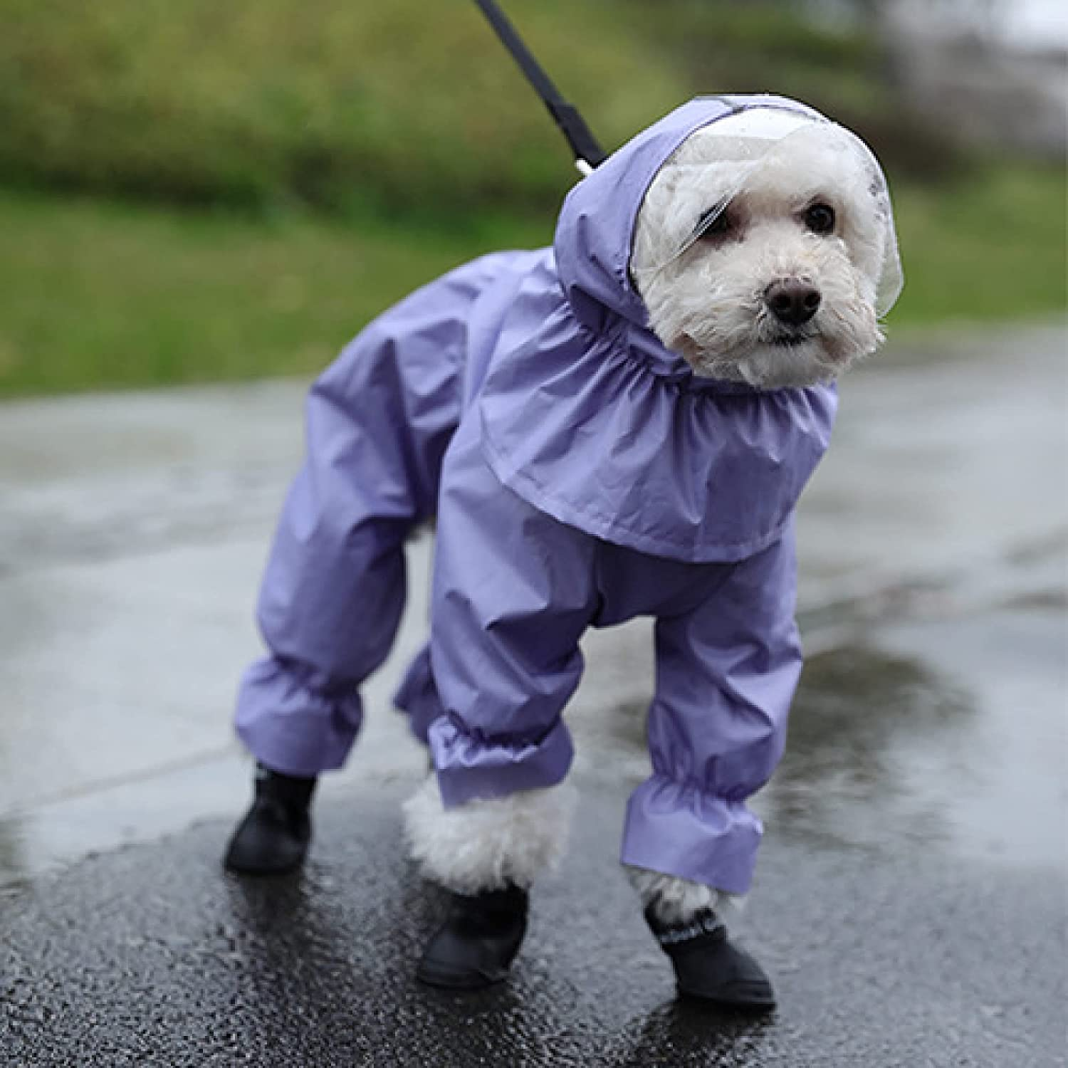 Dog Sale special price Raincoat 4 feet Waterproof Philadelphia Mall Poncho Clothes Puppy pet XS
