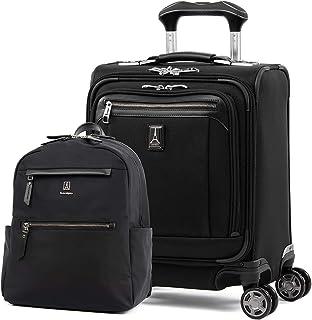 Travelpro Platinum Elite Softside Expandable Spinner Wheel Luggage, Backpack Set, Shadow Black, 2-Piece