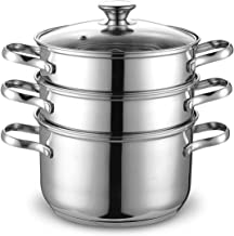Cook N Home NC-00313 Double Boiler Steamer, 4Qt, silver
