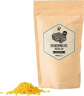beegut Bio Bienenwachs Pastillen, 200g natürliches Bienenwachs vom Bio Imker für DIY Kosmetik UVM