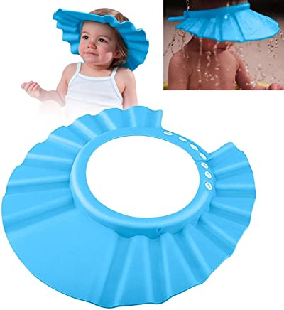 Zodaca Soft Safe Shampoo Shower Bathing Protect Cap Hat for Baby Kids Children Toddle, Blue
