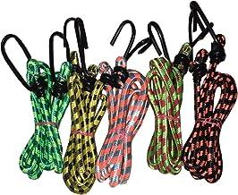 Glamio Polyester & Nylon Luggage Tying Rope with Hooks (Set of 5) (Multicolored_G/TYINGROPE2/SETOF5)