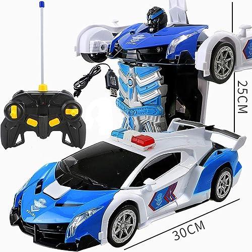 bajo precio QRFDIAN Deformación de Juguetes para NiñosIngeniería de vehículosTransformadores Serie Serie Serie Robot Modelo Regalo de Juguete Estatua (Color   azul and blanco)  para mayoristas