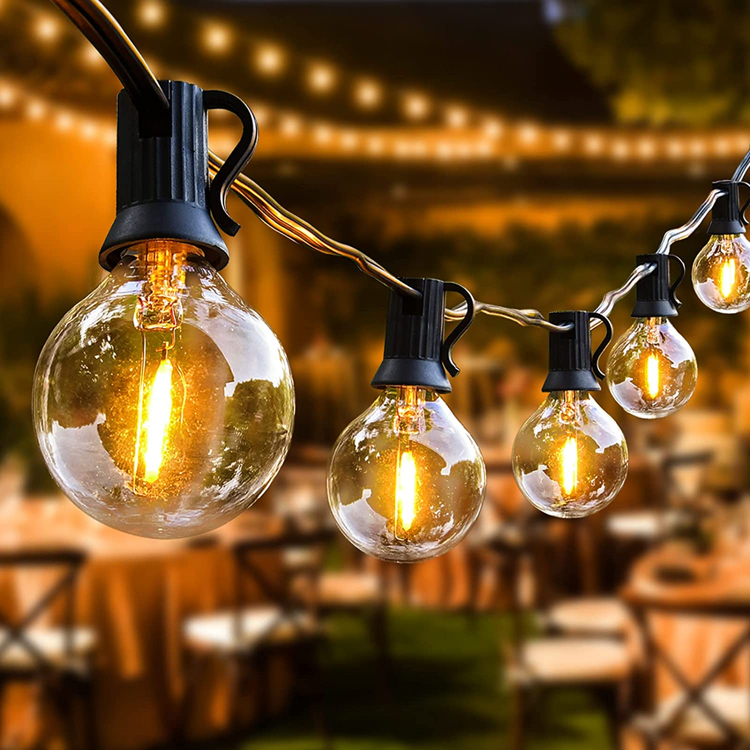 Oraoko 52ft LED Patio String Lights $19.79 Coupon