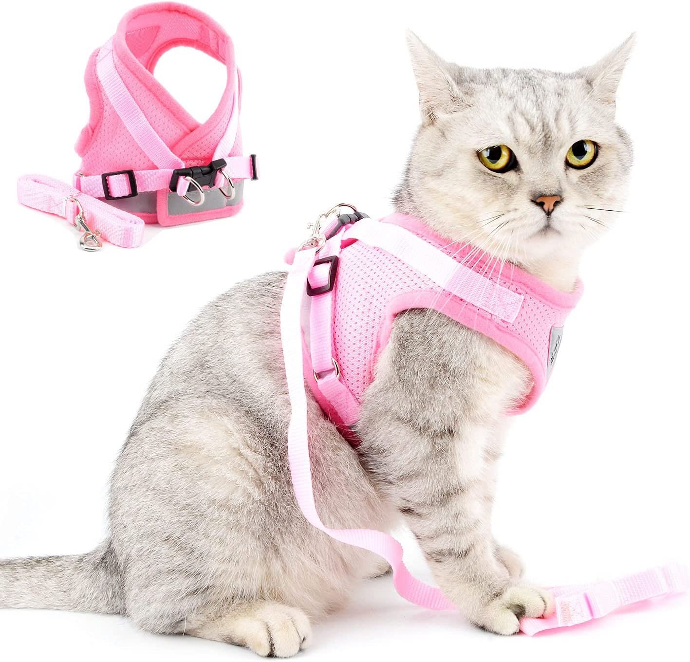 SELMAI Soft Mesh Harness for Cats Max 45% OFF No Pull St Reflective Import Choke
