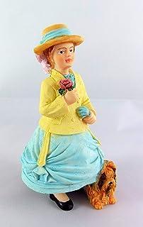 Casa de muñecas en miniatura 1:12 Gente Resina Figura Moderna Negro Dama Mujer De Cocina