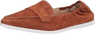 Cole Haan Women's Grand Ambition Amador Flat, British Tan Suede/White Outsole, 10