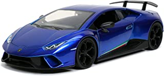 Jada Toys Hyperspec 1:24 Lamborghini Huracan Performante Die-cast Car Blue, Toys for Kids and Adults