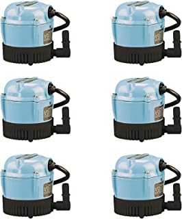 MRT SUPPLY 170 GPH Permanently Oiled Direct Drive Pumps (6 Pack) with Ebook