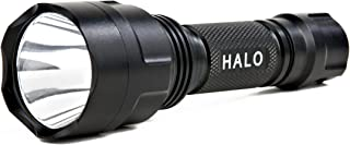 Guard Dog Halo Aluminum Flashlight, Waterproof and Rechargeable, Tactical and Impact Resistant with Self-Defense & Glass-Breaker Face