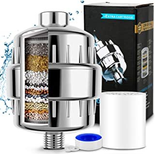 Filtro Regadera, 15 Etapas Filtro de Ducha Agua Universal, P
