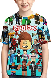 Cartoon Game T-Shirts Kids Short Sleeve Tee Cartoon Tops for Boys/Girls/Youth/Teen Pink
