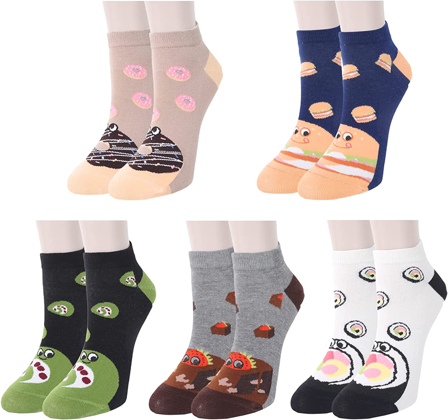 Womens Ankle Socks for Girls Cute Funny Max 45% OFF Cut Cotton Fashionable Low Soft Cozy