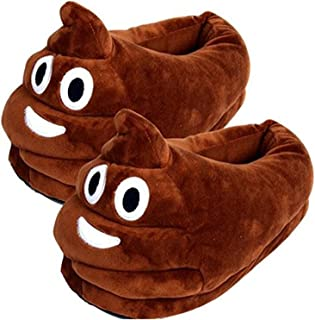 Thicken Warm Winter Slippers Emoji Slippers Unisex Cozy Funny Slippers Fluffy House Shoes