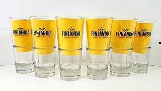 Finlandia Gläser-Set - 6x Vodka Gläser 2/4cl geeicht