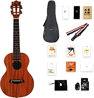 Enya X1 KOA Patterned HPL Ukulele with gig Bag,Tuner, Strap,Capo,String, Concert (CX1