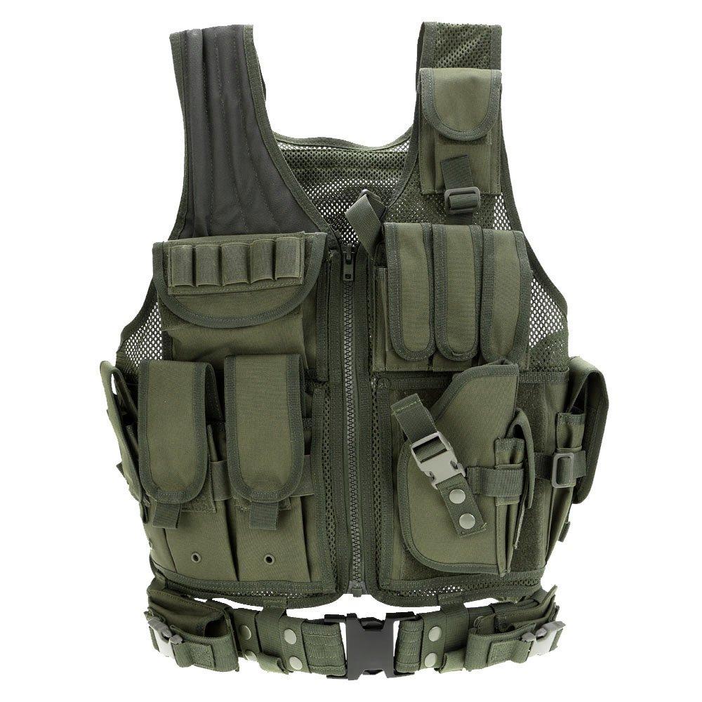 Combat jacket lixada esercito poliestere airsoft gilet da caccia campeggio escursionismo PAH0661137143630JV