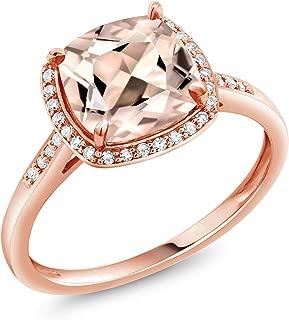 morganite and rose gold engagement rings