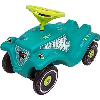 BIG - Bobby Car Classic Little Star - Kinderfahrzeug mit Aufklebern für Jungen und Mädchen, belastbar bis zu 50 kg, Rutschfahrzeug für Kinder ab 1 Jahr, türkis