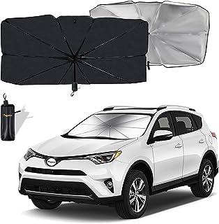 Moyidea Windshield Sun Shade Foldable Umbrella Reflective Sunshade for Car Front Window Blocks UV Rays Heat Keep Vehicle C...