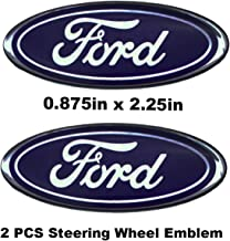 7 Inch Front Tailgate Emblem Decal Badge Nameplate for Ford Escape Excursion Expedition Freestyle F-150 F-250 F350+2 PCS Steering Wheel Emblem Badge Overlay Decal For Ford F Series 0.875in x 2.25in