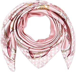 "corciova 35"" Large Women's Satin Square Silk Feeling Hair Scarf Wrap Headscarf"