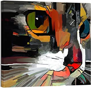 cat painting abstract