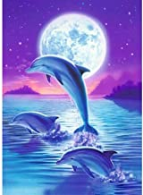 Diamond painting 5D DIY Diamond Painting Animal Dolphin 3D Embroidery Cross Stitch 5D Home Decor Full Square/Round Drill L...
