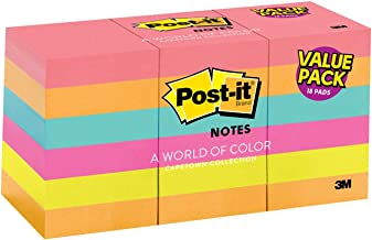 Post-it Notes, Bright Colors (Magenta, Orange, Pink, Blue, Green), Large Pack, Small..