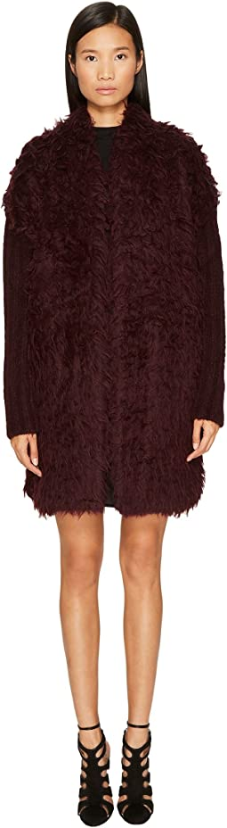 Just Cavalli - Long Sleeve Fluffy Alpaca Wool Jacket