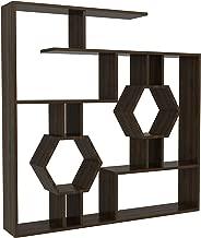 Decorotika - Tamara Geometric Bookcase Modern Bookshelf Shelving Unit Cubic Bookcase (Walnut)